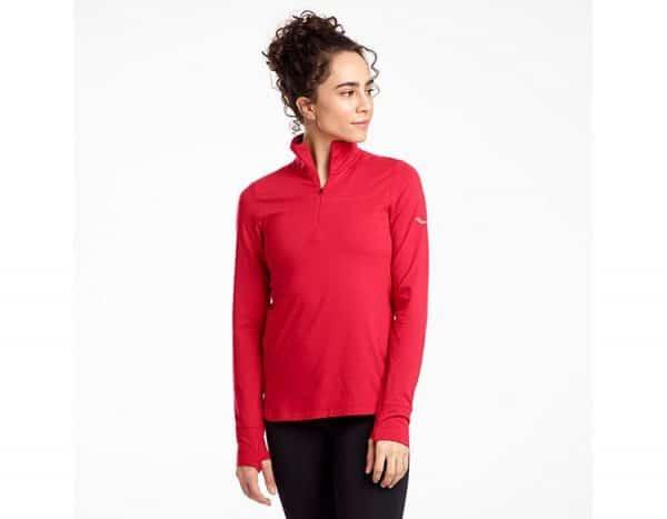 חולצת ריצה וספורט סוקוני CHALLENGE QUATER ZIP נשים
